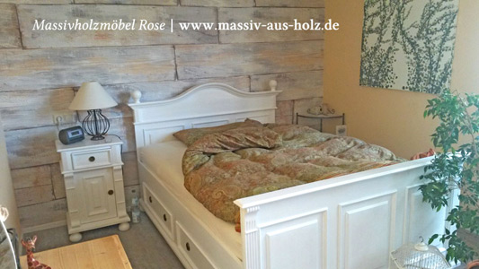 landhaus bett affordable bett in wei ca xcm wei romantik. Black Bedroom Furniture Sets. Home Design Ideas