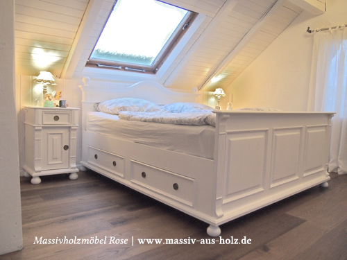 bett 140x200 wei mit schubladen landhaus die neuesten. Black Bedroom Furniture Sets. Home Design Ideas