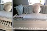 Bett mit Unterbett ausziehbar massiv Holz Kiefer