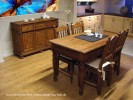 Landhausmöbel im Esszimmer massiv Holz Kiefer natur