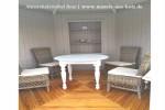runder Tisch Holz massiv Eiche gekalkt