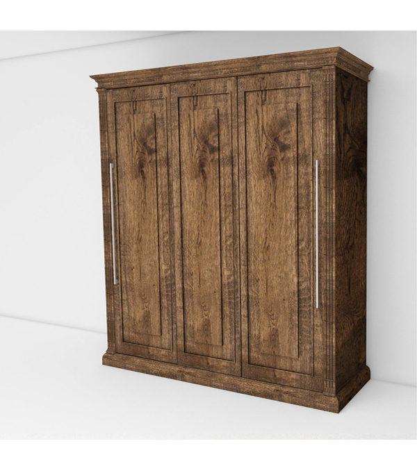 Landhaus-Schrankbett individuell Farbe antik hell gebürstet