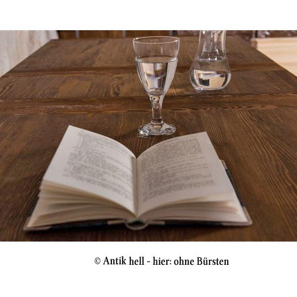 Massivholzmöbel tische  Runder Tisch 100 cm Schublade optional - MASSIV AUS HOLZ