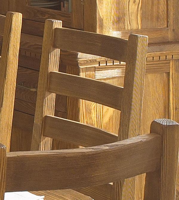 Antik hell braun gebürstet Stuhl