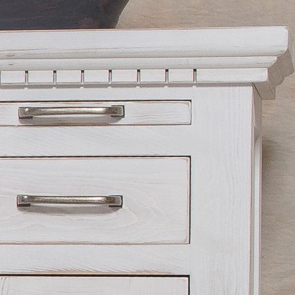 Beistelltisch Echtholzmöbel in Weiß
