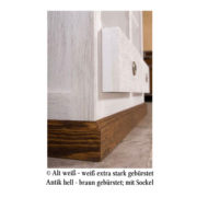 Echtholzmöbel weiß-braun rustikal