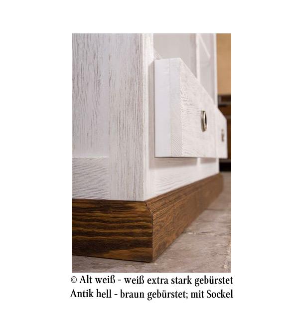 hochschrank klein 2 t rig mit 3 schubladen massiv aus holz. Black Bedroom Furniture Sets. Home Design Ideas
