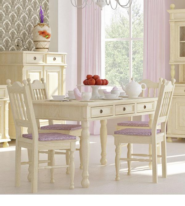 tisch mit schubladen 90 200 cm im landhausstil massiv aus holz. Black Bedroom Furniture Sets. Home Design Ideas