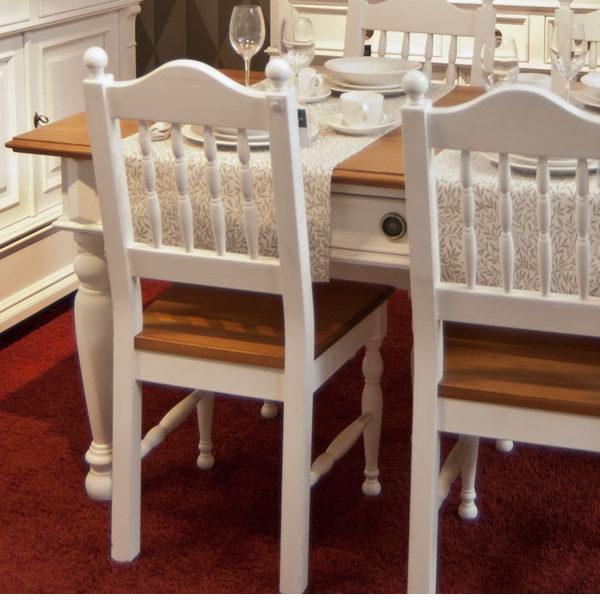 Esszimmermöbel Holzstuhl in Weiß
