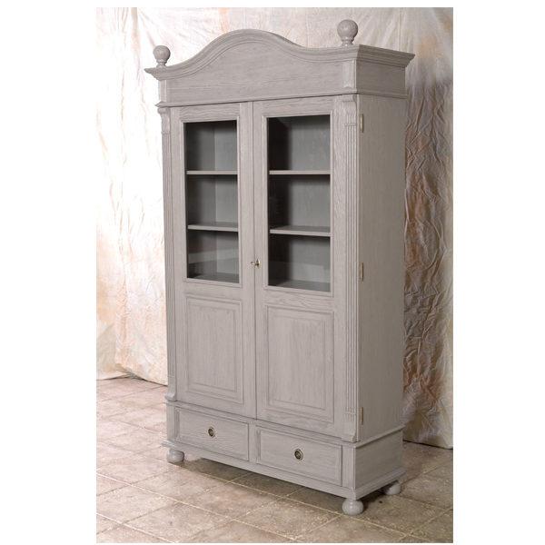 landhaus vitrine mit glast ren 2 t rig klein massiv aus holz. Black Bedroom Furniture Sets. Home Design Ideas