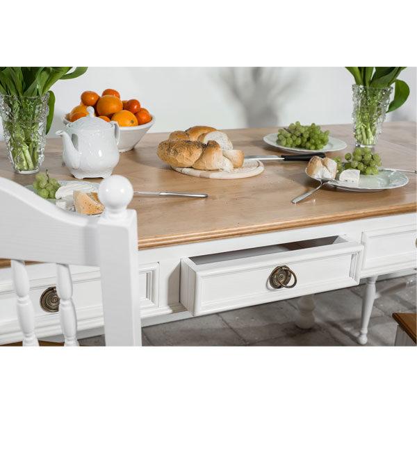 Tisch im Landhausstil Schubladen alle Größen
