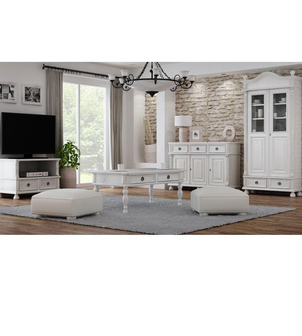 landhaus fernsehschrank klein mit 1 schublade massiv aus holz. Black Bedroom Furniture Sets. Home Design Ideas