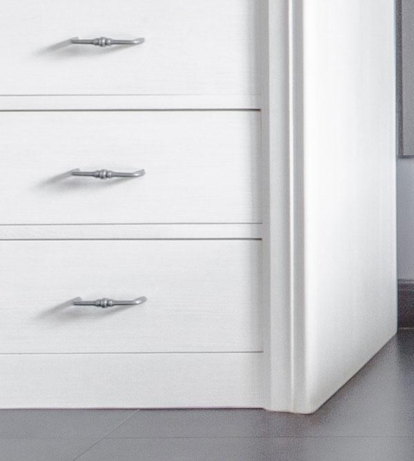 Highboard groß modern collection mit 5 Schubladen - MASSIV ...