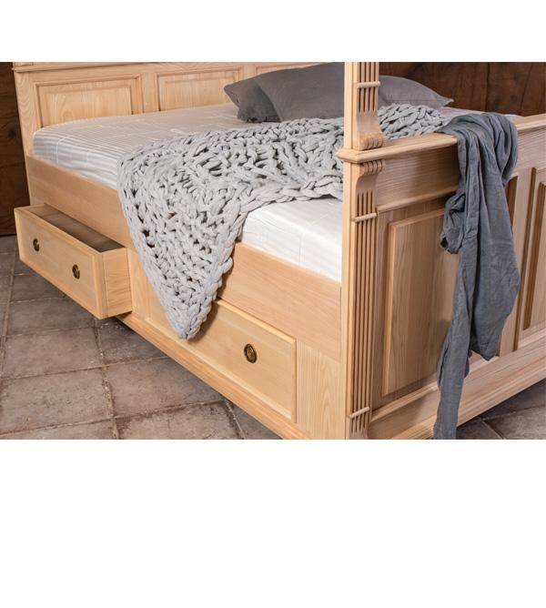 himmelbett 180x200 cm im landhausstil massiv aus holz. Black Bedroom Furniture Sets. Home Design Ideas