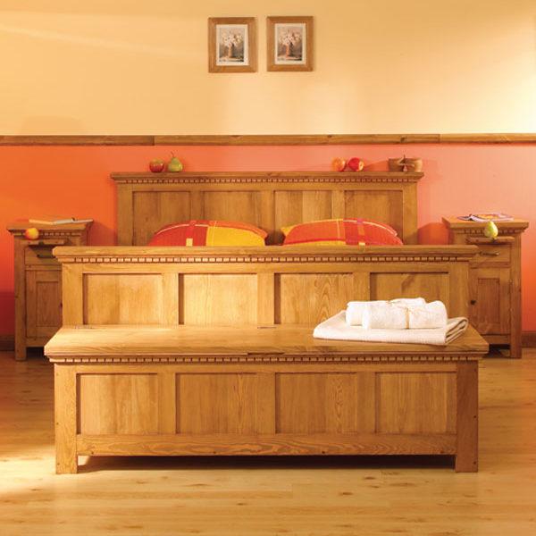 Truhe Burgund massiv Holz Kiefer
