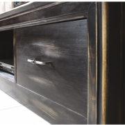 Holzstruktur Antik schwarz shabby chic gewischt