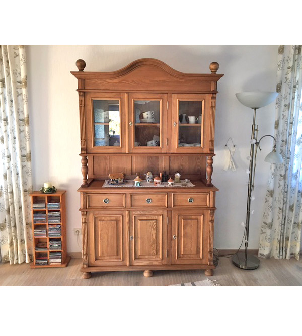 landhaus buffetschrank gro 3 t rig 3 schubladen massiv aus holz. Black Bedroom Furniture Sets. Home Design Ideas