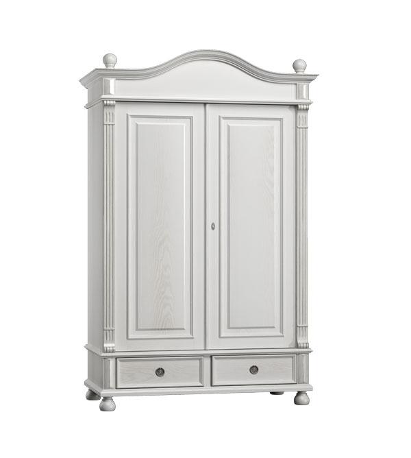 landhaus kleiderschrank 2 t rig ohne spiegel massiv aus holz. Black Bedroom Furniture Sets. Home Design Ideas