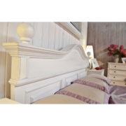 Landhausbett im Shabby Chic Stil Weiß gewischt