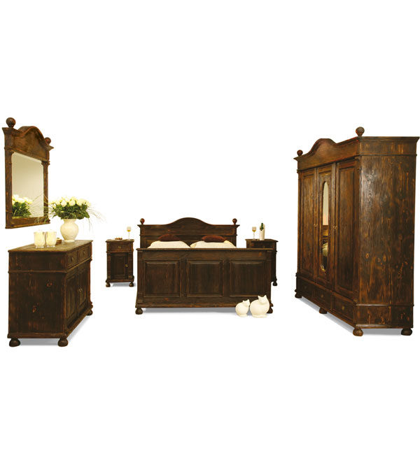 landhausbett 180x200 cm lattenrost 4 schubladen optional. Black Bedroom Furniture Sets. Home Design Ideas