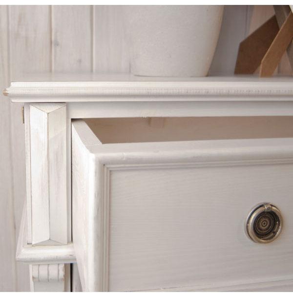 Landhausmöbel Schreibtisch in Weiß