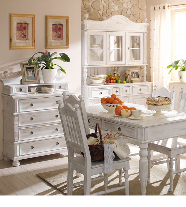 landhaus k chenbuffet klein mit 4 schubladen massiv aus holz. Black Bedroom Furniture Sets. Home Design Ideas