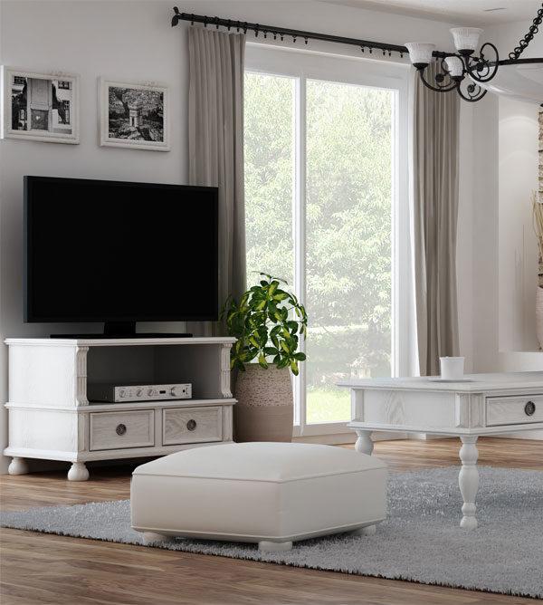Landhausmöbel TV Fernsehschrank in Weiß
