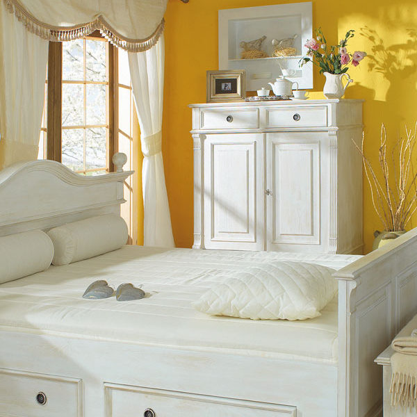 Landhausstil Möbel Sideboard in Weiß