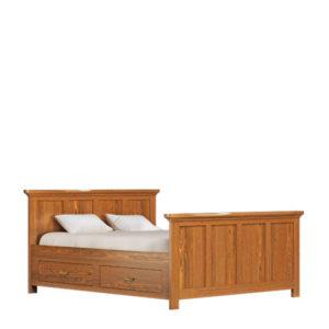 Bett 140x200 cm aus massivem Holz