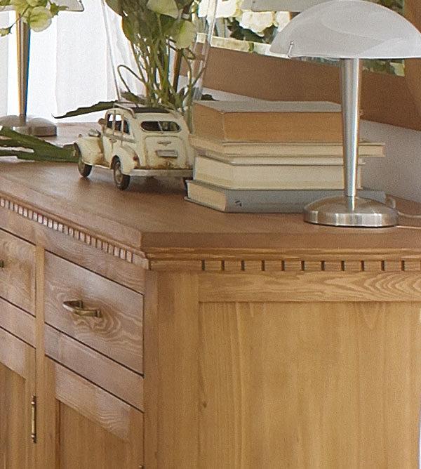 Massiv Holz Kiefer Schrank mit Schubladen
