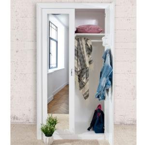 Kleiderschrank mit großem Spiegel, 2-türig, Kiefer massiv
