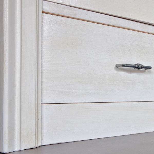 Massivholz Regal in Weiß