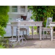 Massivholztisch in Weiß Landhausmöbel
