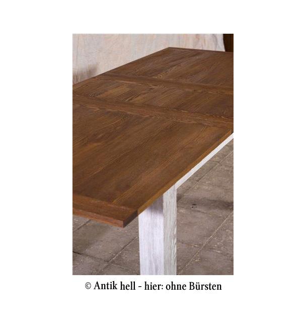 Ausziehbarer Tisch 2-farbig weiß-braun