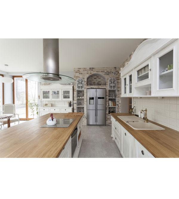 landhaus b cherregal gro mit 2 schubladen massiv aus holz. Black Bedroom Furniture Sets. Home Design Ideas