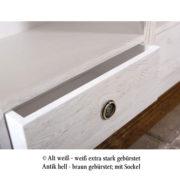 Möbel weiß gebürstet rustikal