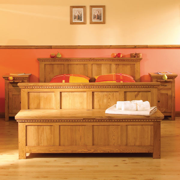Naturholzmöbel Echtholz Bett