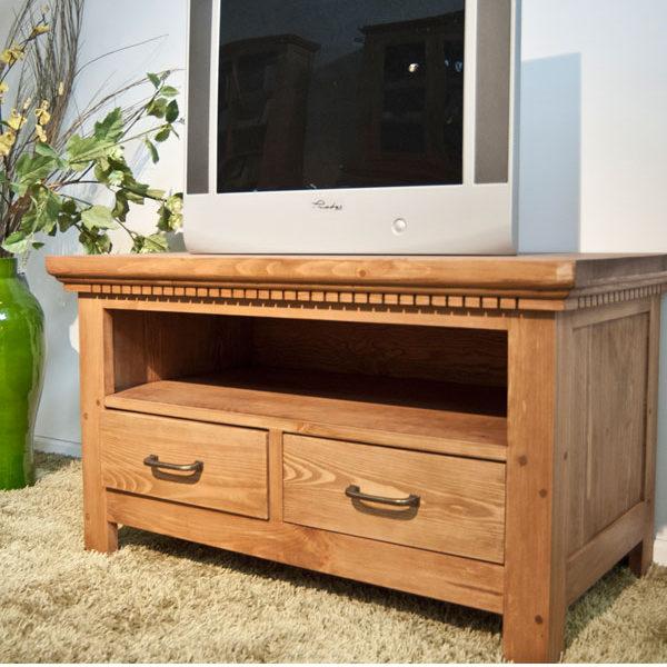 Naturwachs Fernsehschrank Holz massiv