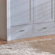Platin grau Kleiderschrank 2-türig mit Schubladen