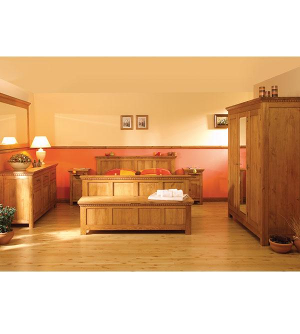 kleiderschrank 3 t rig mit spiegel klassisch massiv aus holz. Black Bedroom Furniture Sets. Home Design Ideas