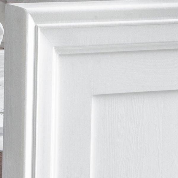 Schrank aus Holz in Weiß massiv Kiefer