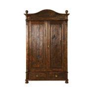 Schrank Landhausmöbel braun rustikal gebürstet