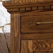 Schreibitsch rustikal gebürstet Massivholz