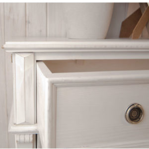 Schubladen im Schrank, Landhausmöbel weiß shabby chic gewischt
