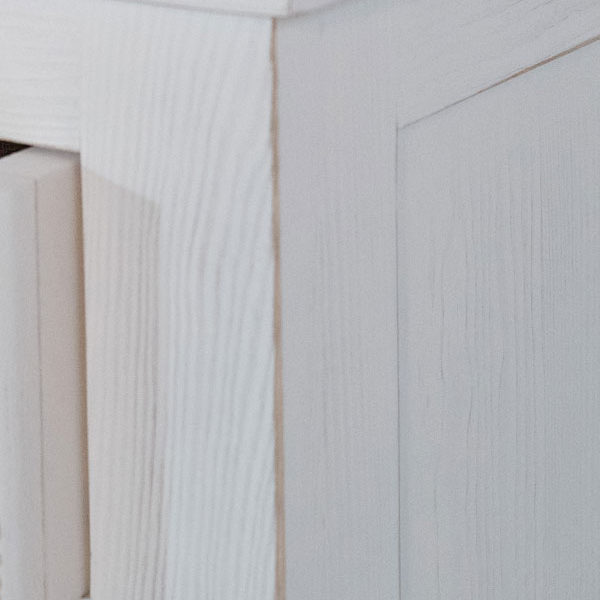 Shabby chic Weiß Massivholzmöbel