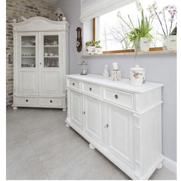 Sideboard Landhausmöbel in Weiß gewischt