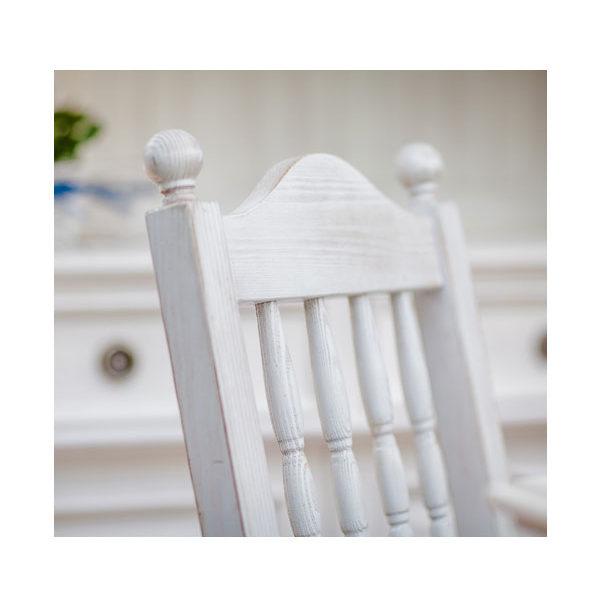 Stuhl Landhausmöbel in Weiß shabby chic gewischt