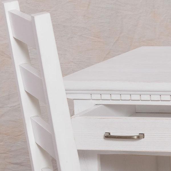 Stuhl in Weiß massiv Holz Kiefer