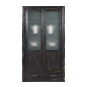Vitrinenschrank Gravit modern Glastüren mit 2 Schubladen