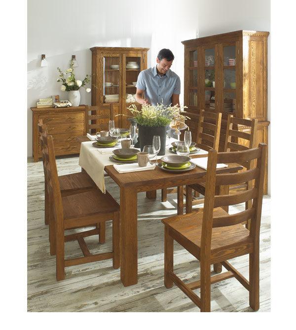 Vitrinen Esszimmermöbel aus Massivholz